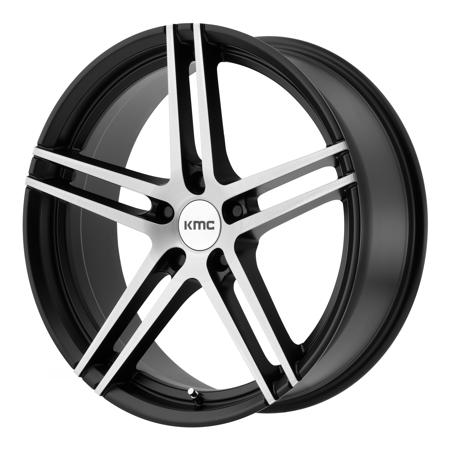KMC KM703 Monophonic 19x8.5 5x112 +35mm Black/Brushed Wheel Rim 19