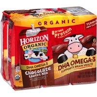 Horizon Organic Low-Fat DHA Chocolate Milk, 8 Fl. Oz., 6 Count
