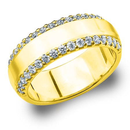 0.50 CTTW Diamond Wedding Band in Yellow Gold, 1/2 CTTW Diamond Anniversary Ring ()