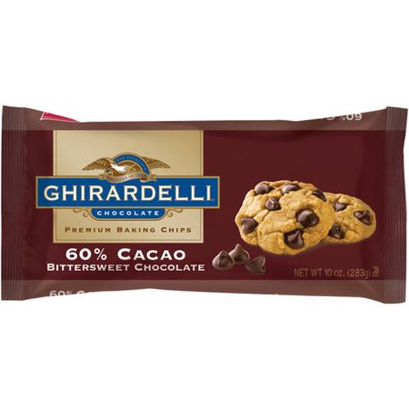 (3 Pack) Ghirardelli Chocolate Premium Baking Chips 60% Cacao Bittersweet Chocolate, 10.0 oz