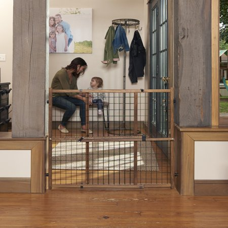Evenflo Farmhouse Collection Position & Lock Tall Pressure Mount Gate