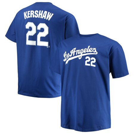 - Men's Majestic Clayton Kershaw Royal Los Angeles Dodgers MLB Name & Number T-Shirt