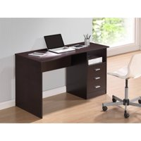 Techni Mobili Classic Computer Desk with Drawers, Wenge (RTA-8404-WN)