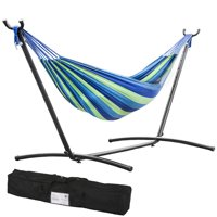 Hammock Stand With Space Saving Steel Stand Includes Carrying Case Blue TM32