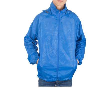 SAYFUT Men's Outdoor Lightweight Windbreaker  Packable Jacket Waterproof Rain Jacket Drawstring Hooded Zip-Up Sport Windbreaker Blue/Red/Black/Green - British Redcoat Jacket
