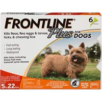 FRONTLINE Plus for Small Dogs (5-22 lbs) Flea and Tick Treatment