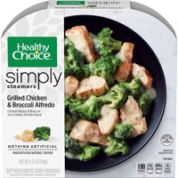 Healthy Choice Simply Steamers Frozen Dinner, Grilled Chicken & Broccoli Alfredo, 9.15 Ounce