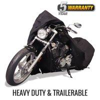 "Budge Sportsman Trailerable Waterproof Motorcycle Cover, Size MC-1: 96"" L x 44"" W x 44"" H"