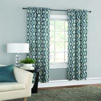 Mainstays Thermal Wave Print Room Darkening Window Curtain Panel Pair