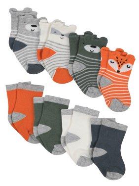 Gerber Jersey Crew Wiggle Proof Socks, 8-pack (Baby Boys)