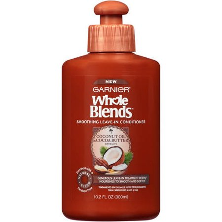 Garnier Whole Blends Leave-In Conditioner with Coconut Oil & Cocoa Butter Extracts 10.2 FL (Hair Stimulating Extract)