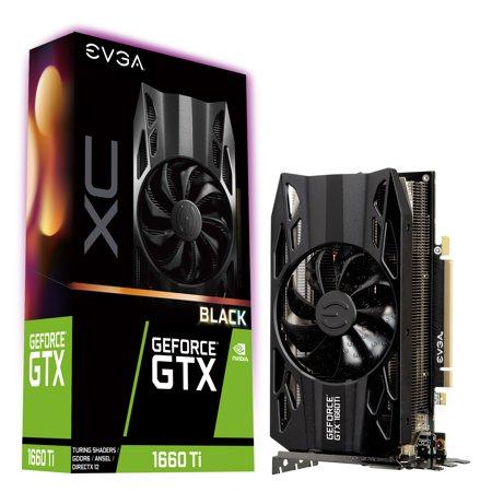 Black 1660 Double Handle - EVGA GeForce GTX 1660 Ti XC Black 06G-P4-1261-KR Graphic Card