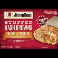 Jimmy Dean® Bacon & Veggies Stuffed Hash Browns, 4 Count (Frozen)