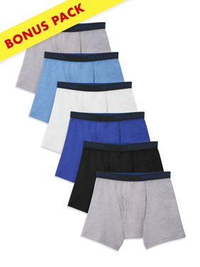 Fruit of the Loom Breathable Cotton Boxer Briefs, 5+1 Bonus Pack (Little Boys & Big Boys)