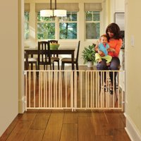 "North State Natural Wood Extra Wide Swing Baby Gate, 60""-103"""