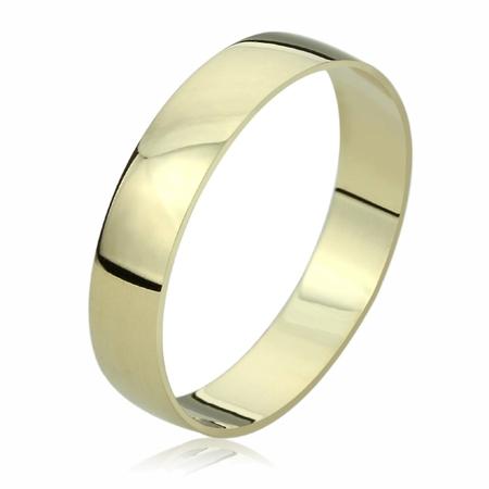 - 14K Yellow Gold Wedding Band 5mm Domed Classy Plain Ring