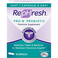 RepHresh Pro-B Probiotic Feminine Supplement, Capsules 30 ea (Pack of 6)