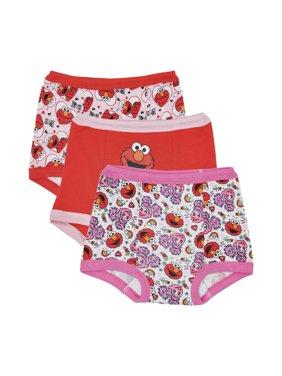 Elmo Girls' Training Pants, 3-Pack