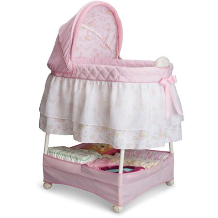 Gliding Cradle - Delta Children Disney Gliding Bassinet, Pink Princess