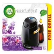 Air Wick Essential Mist Fragrance Oil Diffuser Kit (Gadget + 1 Refill), Lavender & Almond Blossom, Air Freshener