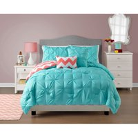 VCNY Home Multi-Color Textured 4/5 Piece Reversible Bedding Comforter Set, Multiple Colors and Sizes Available