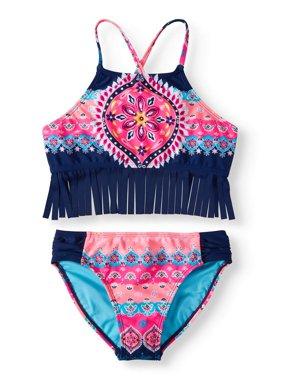 Saffron Spice Fringe Bikini Swimsuit (Little Girls & Big Girls)