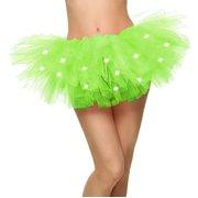 fa9a54ff5f Women's Classic 5 Layered LED Light Up Tutu Skirt Clubwear, Yellow