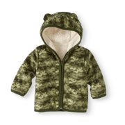 dea40226b Newborn Baby Boy Eared Cozy Fleece and Sherpa Hoodie