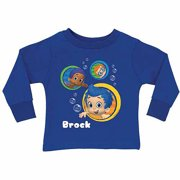 d5e855a643 Personalized Bubble Guppies Guppy Boy s Blue Long Sleeve Tee
