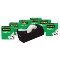 Scotch Desktop Magic Tape Dispenser Value Pack, feat. 6 Tape Refills
