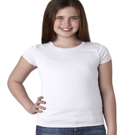 Branded Next Level Girls Princess T-Shirt - WHITE - M (Instant Saving 5% & more on min 2)](Kids Back To School Clothes)