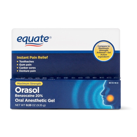 Equate Orasol Oral Anesthetic Gel, 0.33 Oz