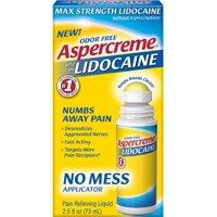 2 Pack - ASPERCREME Max Strength With 4% Lidocaine No Mess Applicator 2.5 oz