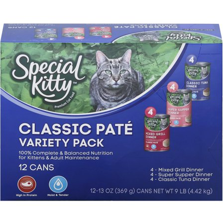 Special Kitty Classic Pate Wet Cat Food Variety Pack 13 Oz 12
