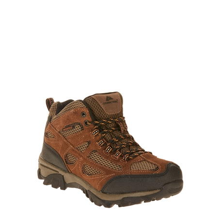 Ozark Trail Men's Vented Mid Waterproof Leather Hiker Boot (Mid Mens Lug Sole Boot)