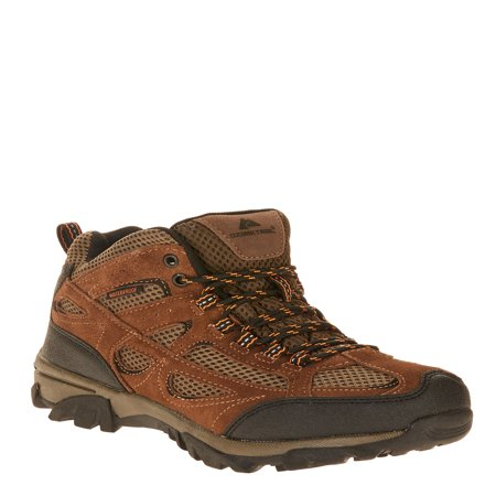 Ozark Trail Men's Vented Mid Waterproof Leather Hiker - Brown Waterproof Hiking Boots