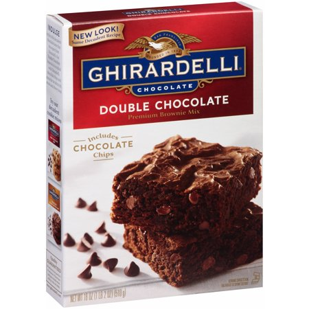 Ghirardelli Cake - (2 pack) Ghirardelli Double Chocolate Premium Brownie Mix, 18 oz