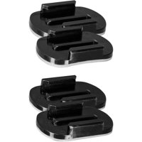SPYPOINT, XHD-AM action camera accessory, adhesive mounts to attach camera to the quick release stand, includes 2 curved and 2 flat adhesive mounts