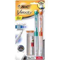 BIC Velocity Max Mechanical Pencil, Thick Point (0.9 mm), 2-Count