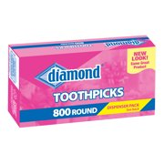 Diamond Round Wood Toothpicks, 800 Count