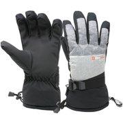 1b1484846d9f4 Alpine Swiss Mens Waterproof Gauntlet Ski Gloves Winter Sport Snow 3M  Thinsulate