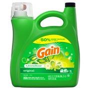 Gain + Aroma Boost Liquid Laundry Detergent, Original, 96 Loads 150 fl oz