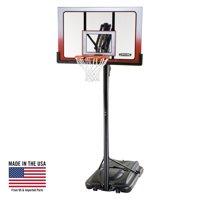 "Lifetime 52"" Shatterproof Portable One Hand Height Adjustable Basketball System, 1558"