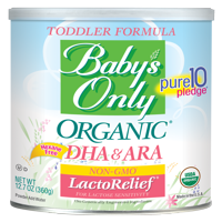 Baby's Only Organic LactoRelief with DHA/ARA Toddler Formula