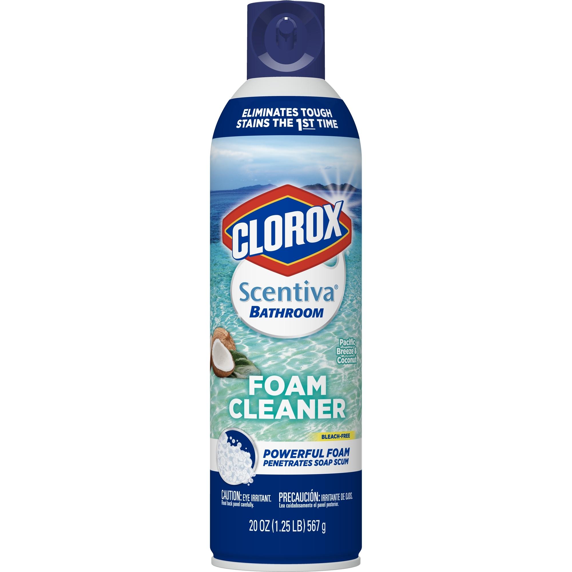 Clorox scentiva bathroom foam cleaner lavender pacific - Clorox bathroom foamer with bleach ...