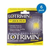 (6 Pack) Lotrimin AF Jock Itch Antifungal Treatment Cream, 0.42 Ounce Tube