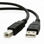 10ft USB Cable for Canon imageCLASS MF4880dw Black/White Laser Multifunction Printer/Copier/Scanner/Fax Machine by
