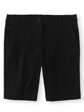 Girls School Uniform Stretch Twill Bermuda Shorts