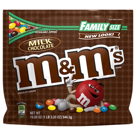 3038 Chocolate (M&M's Milk Chocolate Candies, 19.2 Oz.)