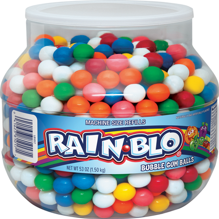 Rain-Blo, Assorted Candy Shelled Chewing Gum, 53 (Gum Resin)